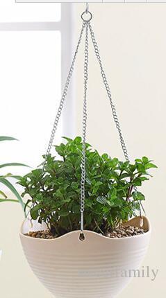 Der Balkon Potting Harz Kunststoff Blume POTS hing Becken Bracketplant Blumentopf Hängen Sie nach unten condole 24 cm Topf