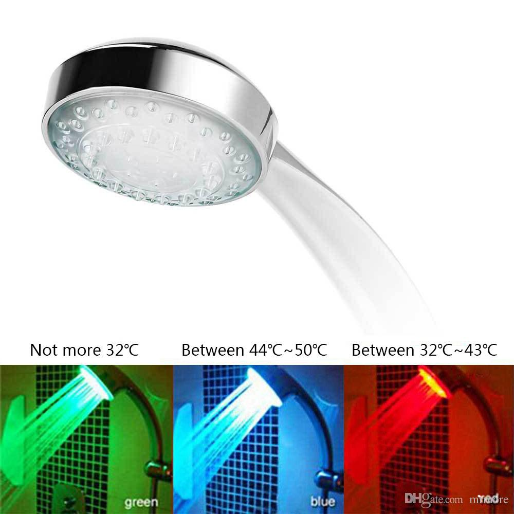 7 Color Changing LED colorato Soffione doccia LED Water Shower Light Light Glow LED Faucet Light
