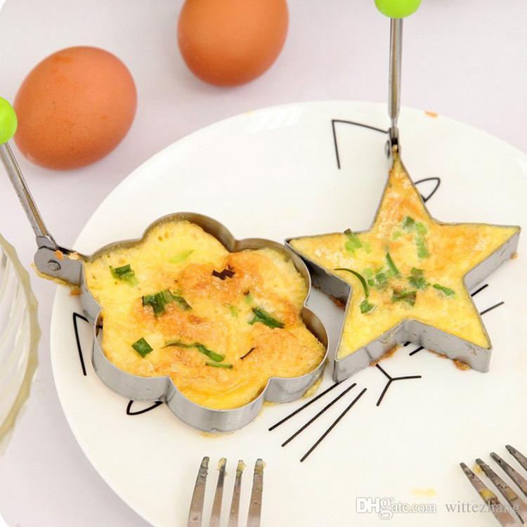 Acier Inoxydable Frit Egg Shaper oeuf Crêpes Anneau Moule Moule Cuisine Outils De Cuisson En Acier Inoxydable Omelette Dispositif 5 Style