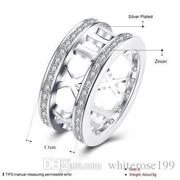 Wholesale  - 小売価格の最低価格クリスマスプレゼント、送料無料925銀ファッションリングR50