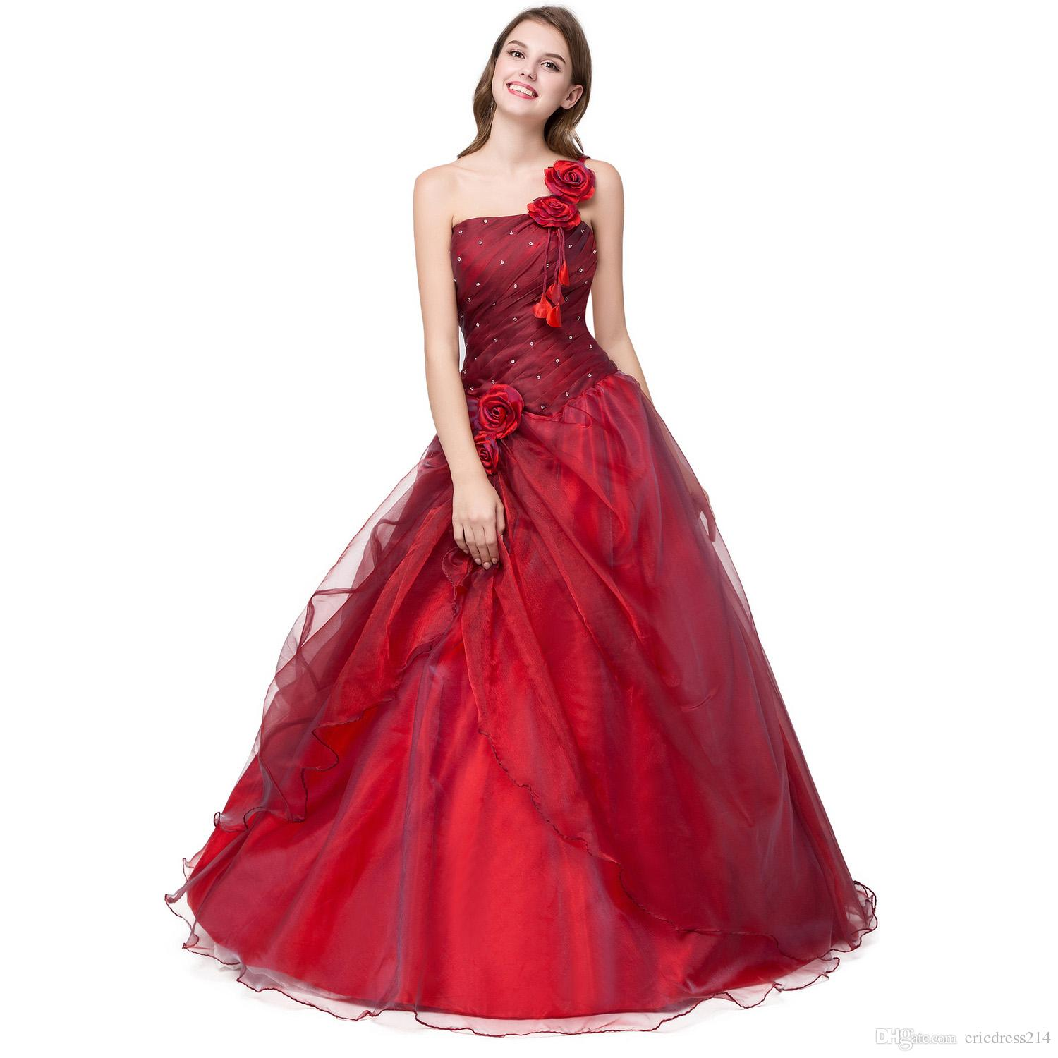 2017 New Stock Cheap Formal Cheap One Shoulder Prom Dresses Under ...