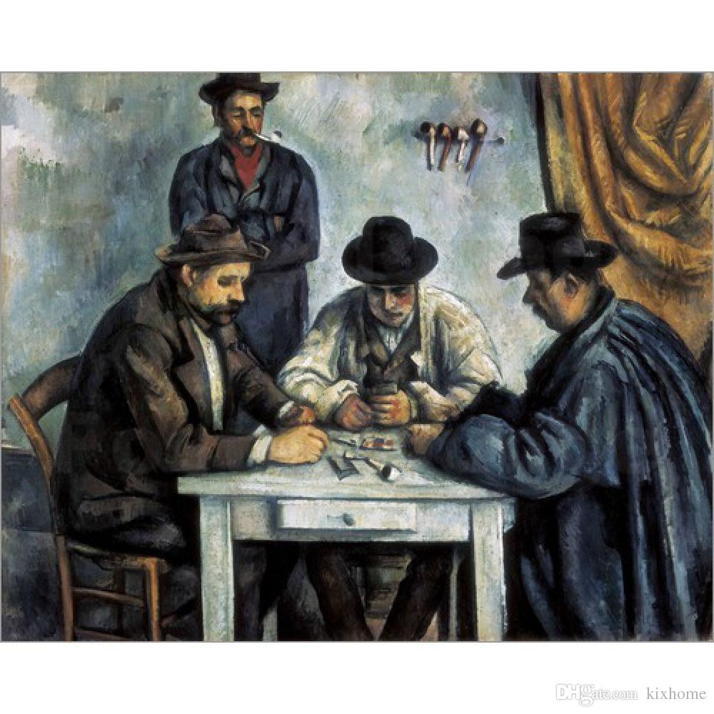 Paul Cezanne Paintings Card Players Abstract Landscapes Art - Who painted the card players