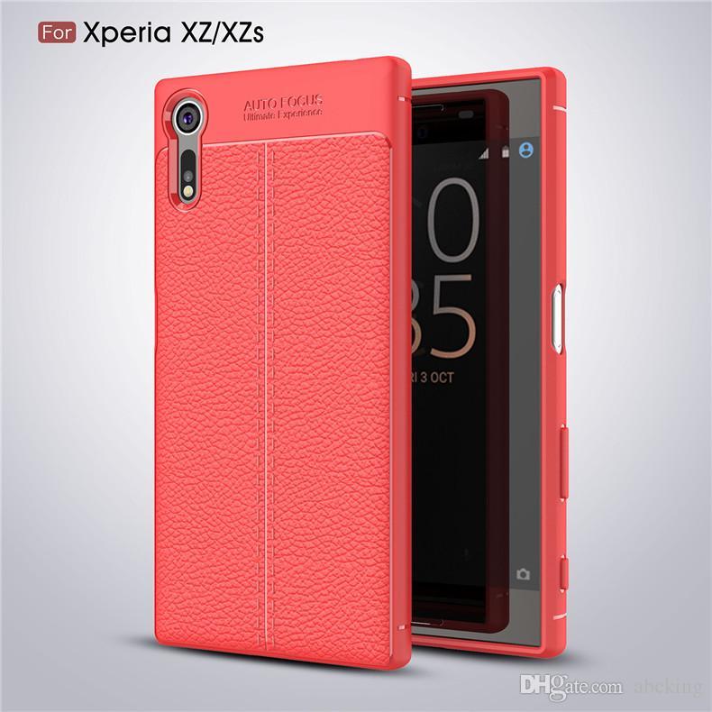 Cell Phone Case for SONY Xperia XA1 XZ1 XZ XZS TPU Litchi pattern Protective Soft Case for XA1 Ultra XZ1 compact XZ1 premium