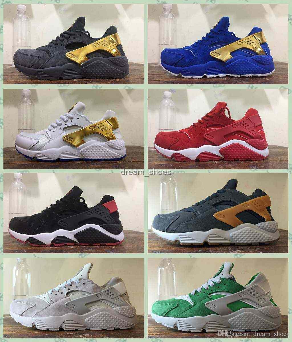 reputable site 3024c 7cb0b 2017 UNDEFEATED X Air Huarache Shoes Women And Mens Air Flight Huarache  Nubuck Running Shoes Sneakers Huaraches Sneakers Shoes Size 36 46 Men  Sports Shoes ...