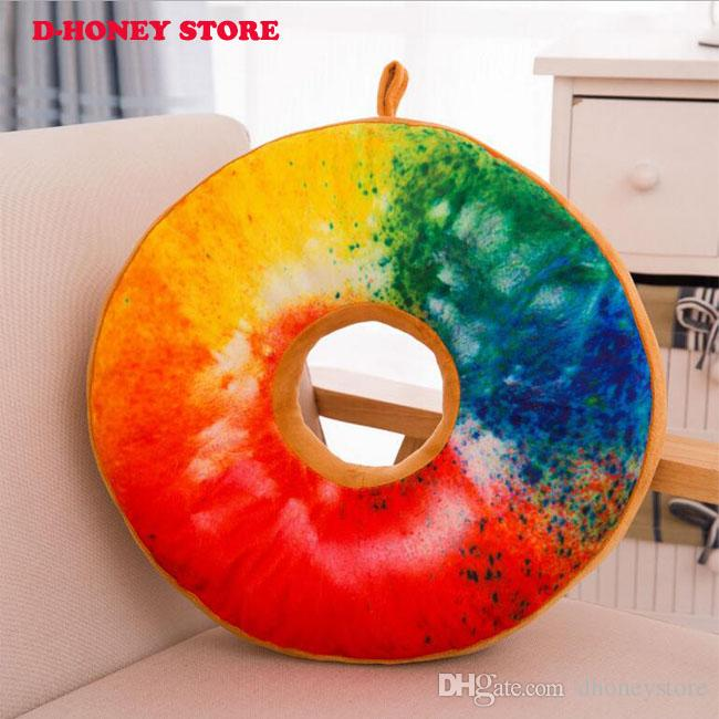 40cm New style Doughnut Shaped Ring Plush Soft Novelty Style Cushion Pillow Donut pillow Funny For Kids Gift
