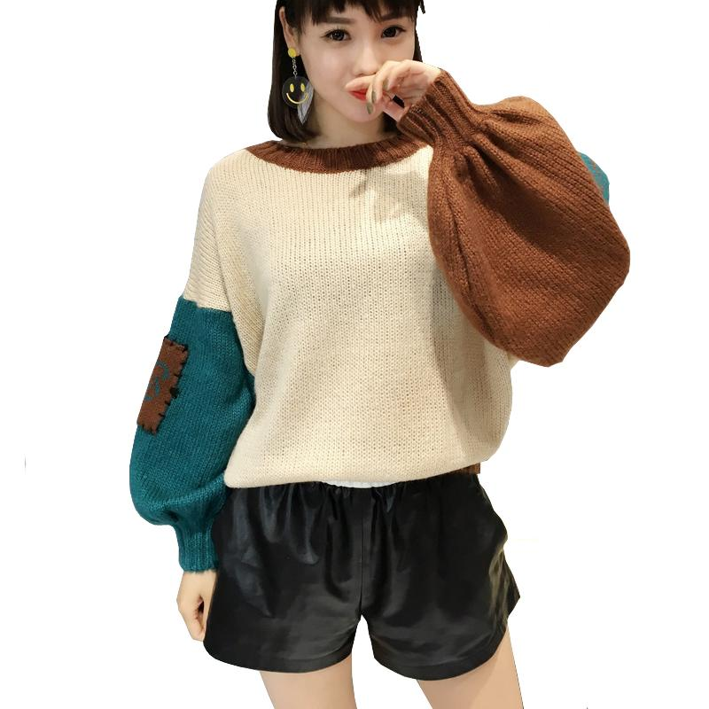 d0fa0527101 Women Elbow Patch Sweater Loose Stitch Ugly Plus Size Knitted Oversized  Sweater Korean Style Knit Female Sweater Swetry Damskie Online with   29.63 Piece on ...