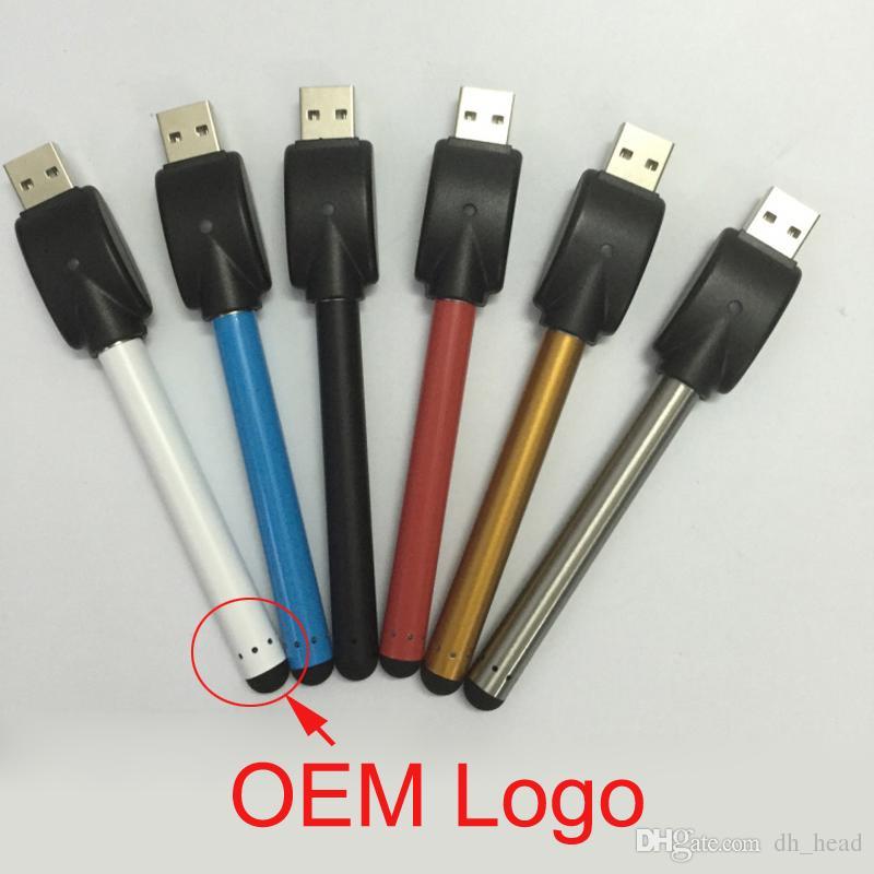 Coloré O stylo vape bourgeon tactile batterie avec chargeur USB 510 fil pour CE3 stylo vaporisateur cartouches d`huile épaisse e cigarette atomiseur hash