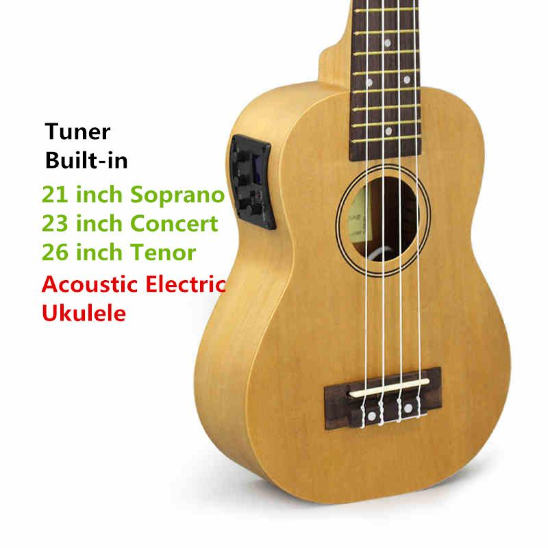 Soprano Concert Tenor Acoustic Electric Ukulele 21 23 26 Inch Small