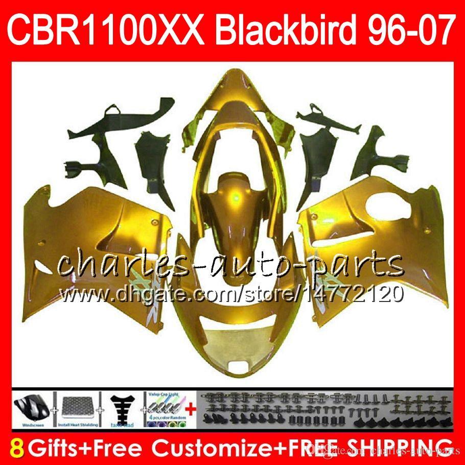 Body For HONDA Blackbird CBR1100 XX Gloss golden CBR1100XX 02 03 04 05 06 07 81NO48 CBR 1100 XX 1100XX 2002 2003 2004 2005 2006 2007 Fairing