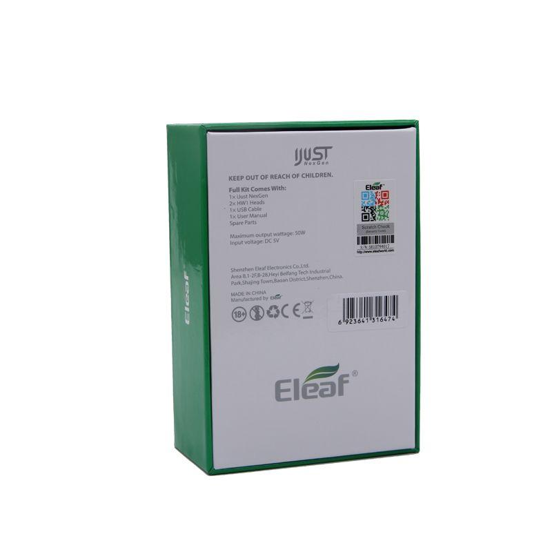 Eleaf iJust NexGen Starter Kit 3000mAh 50W Battery & 2ml Tank HW1 Single-Cylinder Coil 100% Original