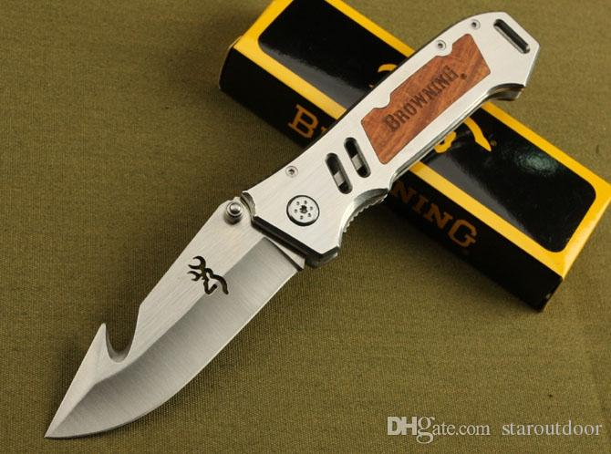 Browning AT-11 Survival Folding Knife Steel Rescue Bowie Tactical Camping Hunting Pocket Knife Military Utility EDC Tools Collection