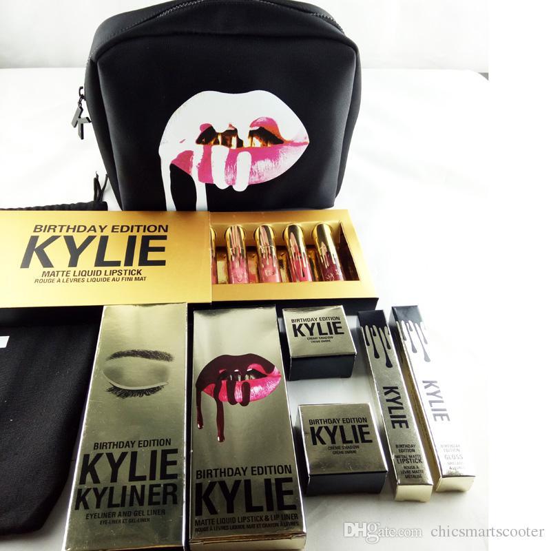 Kylie Birthday Bundle All Makeup Gift Box Bag Collection Cosmetics ...