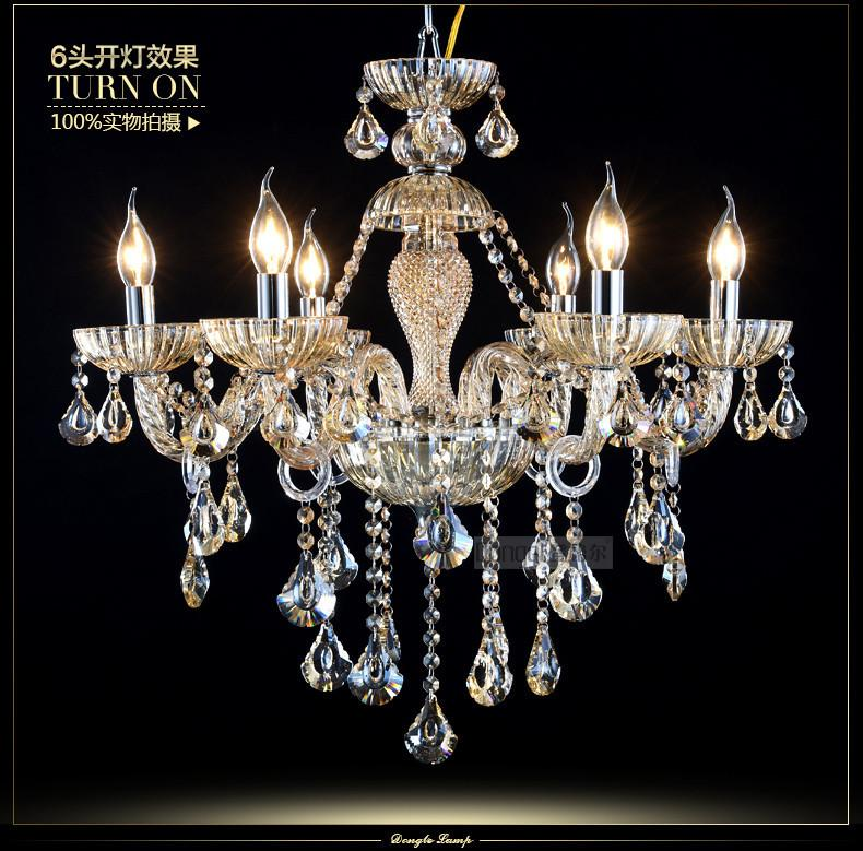 Crystal Home Lighting Indoor Lamp Room Chandeliers Modern crystal Light Chandelier Luxury Cognac color Top K9 Crystal 6-8 Arm