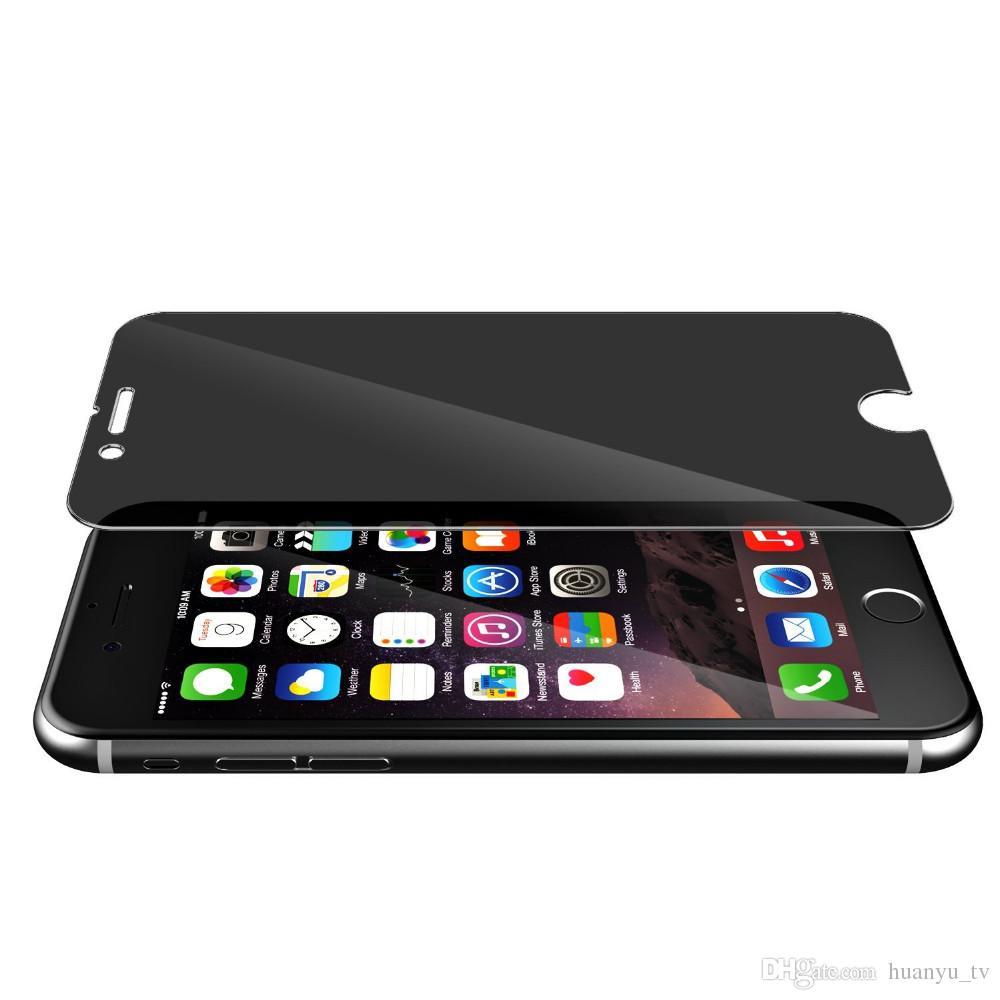 9H Premium Guard Shield Film Privacidad Anti-Spy Vidrio templado para iPhone 7 7plus 6 6s Plus 5 5S Protector de pantalla