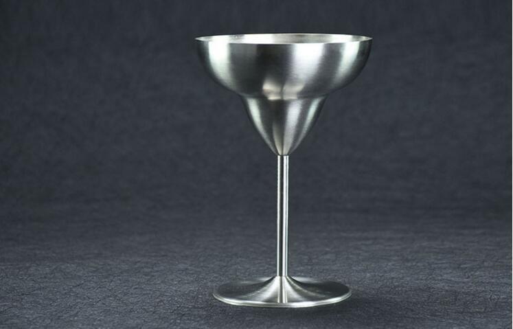 Acier inoxydable à double paroi Margarita verre Fashion Martini coupe verre à vin créatif gobelet en verre anti-cassé Barware outils