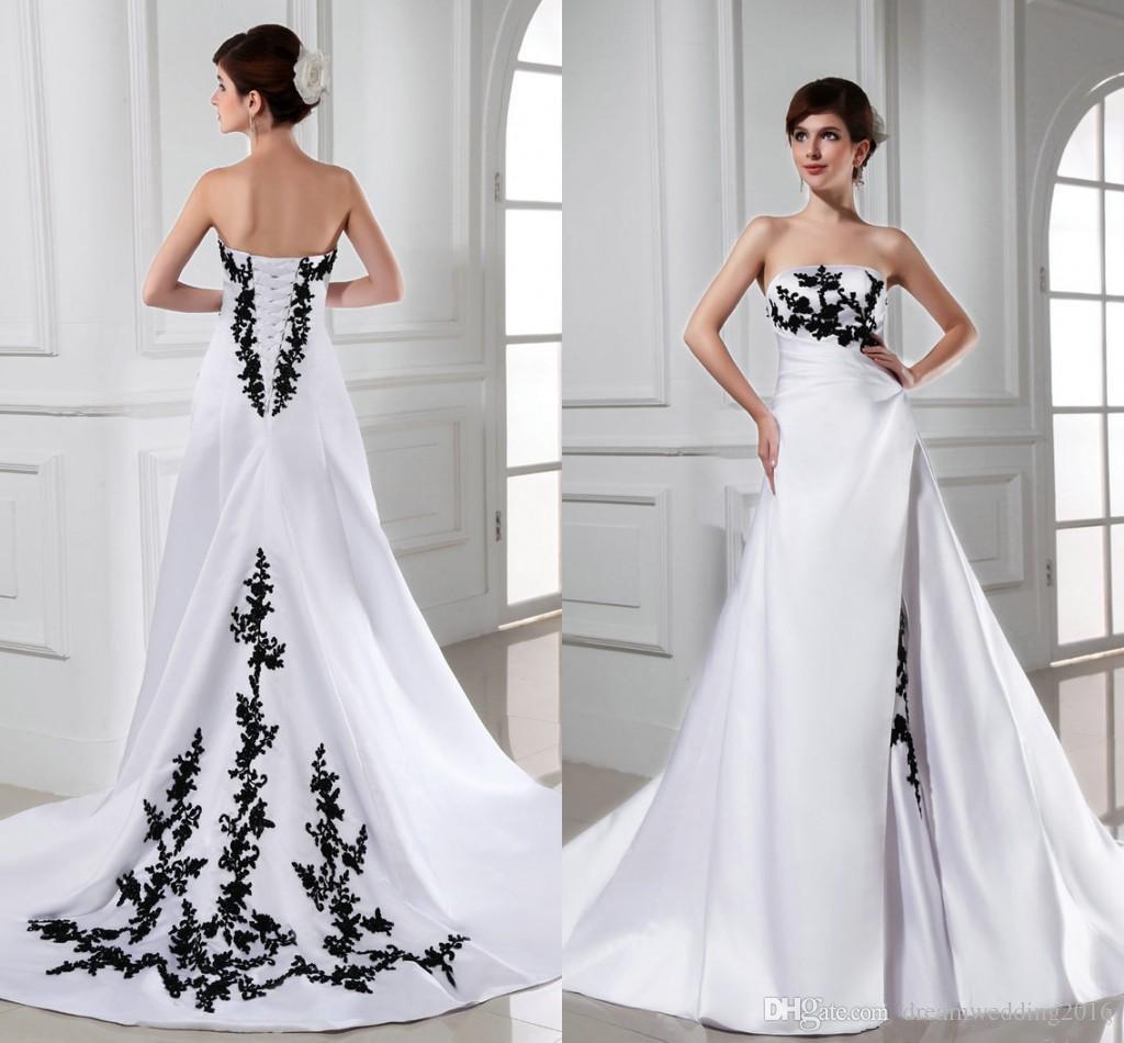 Discount Designer Wedding Gowns: Discount Fashion 2017 Wedding Dresses Strapless Appliques