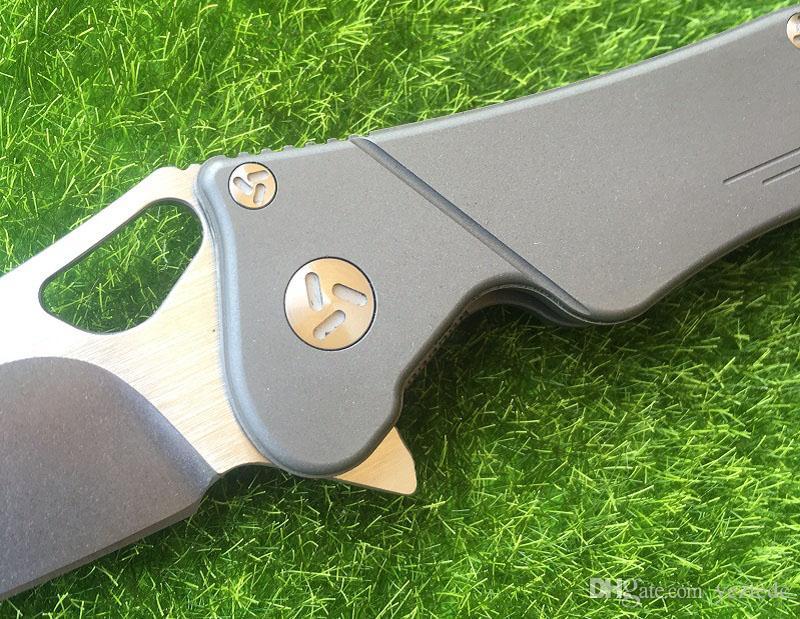 Maker 3 Design Original Keramik Kugellager Flipper Klappmesser S35vn 100% TC4 Titan Griff Camping Jagd Taschenmesser EDC Werkzeug