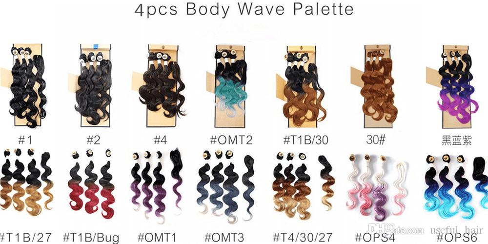 Body wave hair weaves 4pcs/lot=one head 220gram machine double weft bundle with lace closure,sew in hair extensions weaves closure wefts