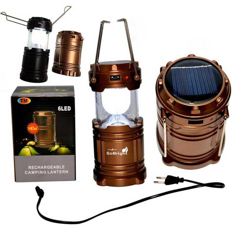휴대용 lanter 태양열 충전기 캠핑 랜턴 램프 LED 실외 조명 접는 캠프 텐트 램프 USB 충전식 랜턴