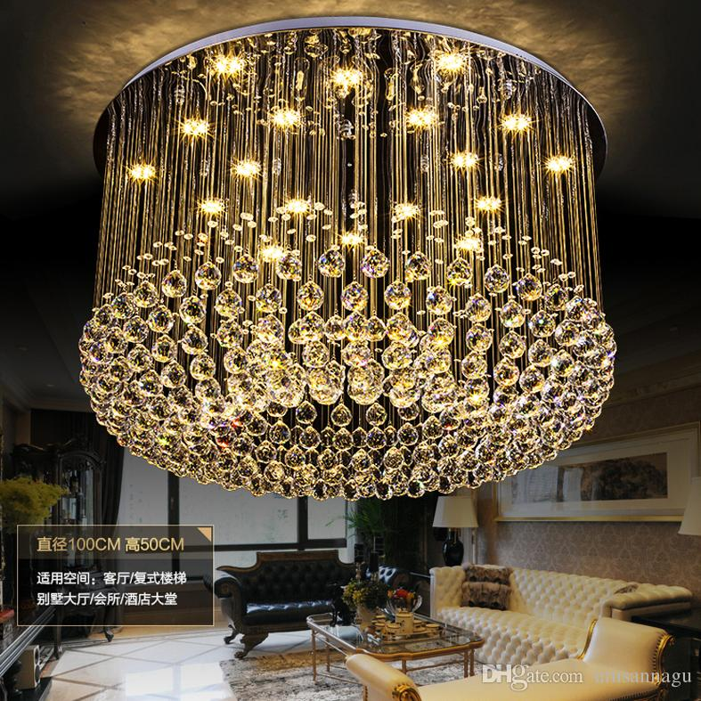 Crystal Chandeliers Modern Led Dimmable Chandelier Light Fixture 3 ...
