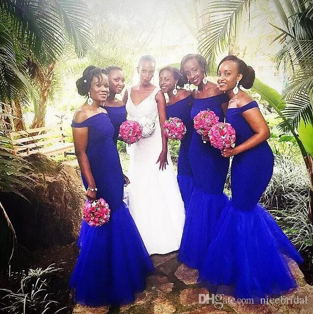 Royal blue wedding dresses pictures