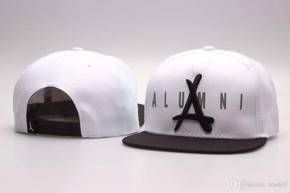 "New tha alumni gold ""A"" hats Snapback caps mens snapback cap basketball hat baseball caps bone snapbacks hip hop hats Ball Caps"