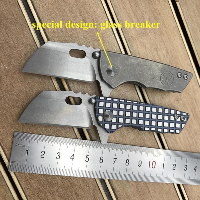 TC4 titanyum s35vn blade yürüyüş kamp taktik sağkalım katlanır bıçak rulman flipper küçük pocket knife kırma programı edc aracı