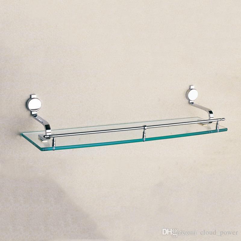 2017 Chrome Single Glass Shelf Brass Strong Wall Mounted Bath Room Corner  High Grade Shower Soap Shampoo Holder Bathroom Shelves Sale Wholesale From  ...