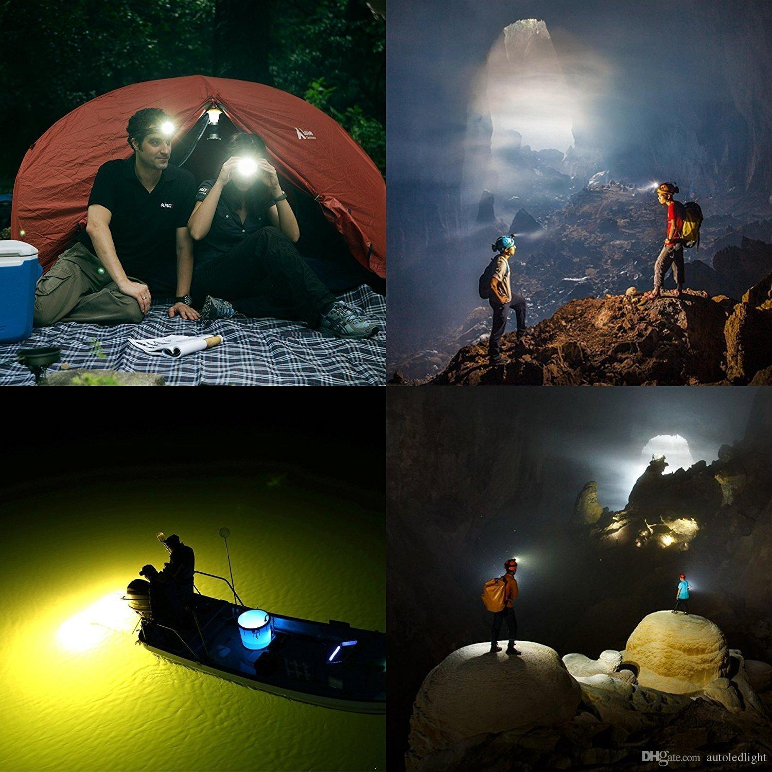 LED 8000 Lumens Headlight 3 LED XM-L T6+2R5 Head Lamp High Power LED Headlamp with charger