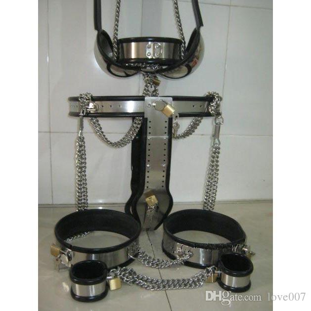 Male Fully Adjustable Model-T Stainless Steel Premium Chastity Belt Kit color