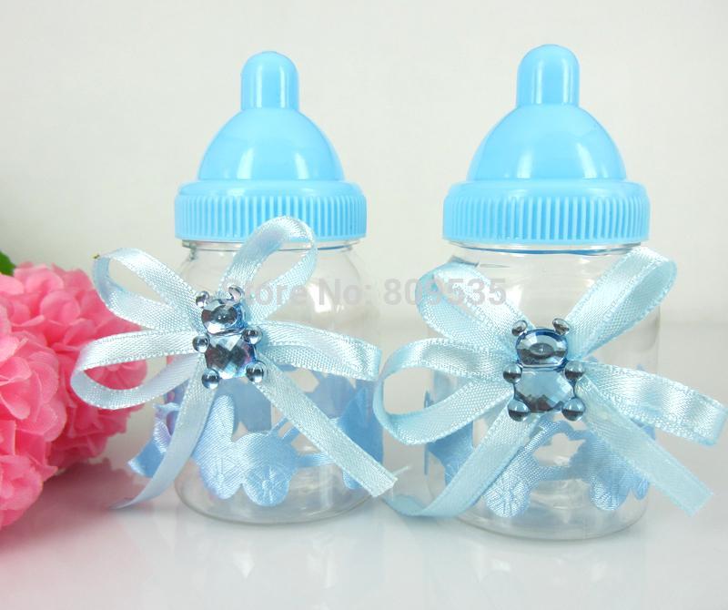 gro handel gro handels freies verschiffen blue boy baby shower favors flasche taufe f r hochzeit. Black Bedroom Furniture Sets. Home Design Ideas