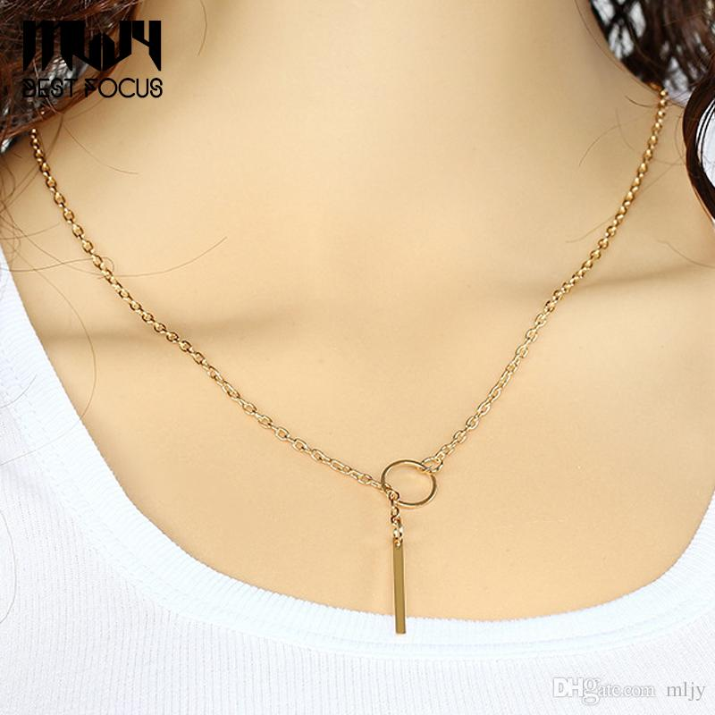 MLJY Simple Punk Necklaces&Pendants For Women Gold Placed Pendant Necklaces Fashion Jewelry