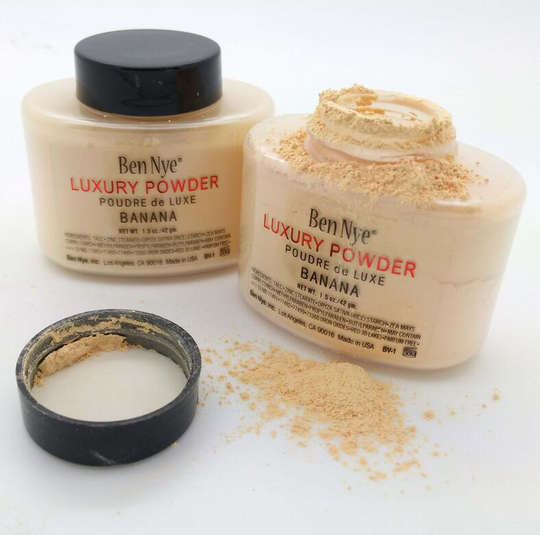 Newest Ben Nye Luxury Powder 42g New Natural Face Loose Powder Waterproof Nutritious Banana Brighten Long-lasting gift