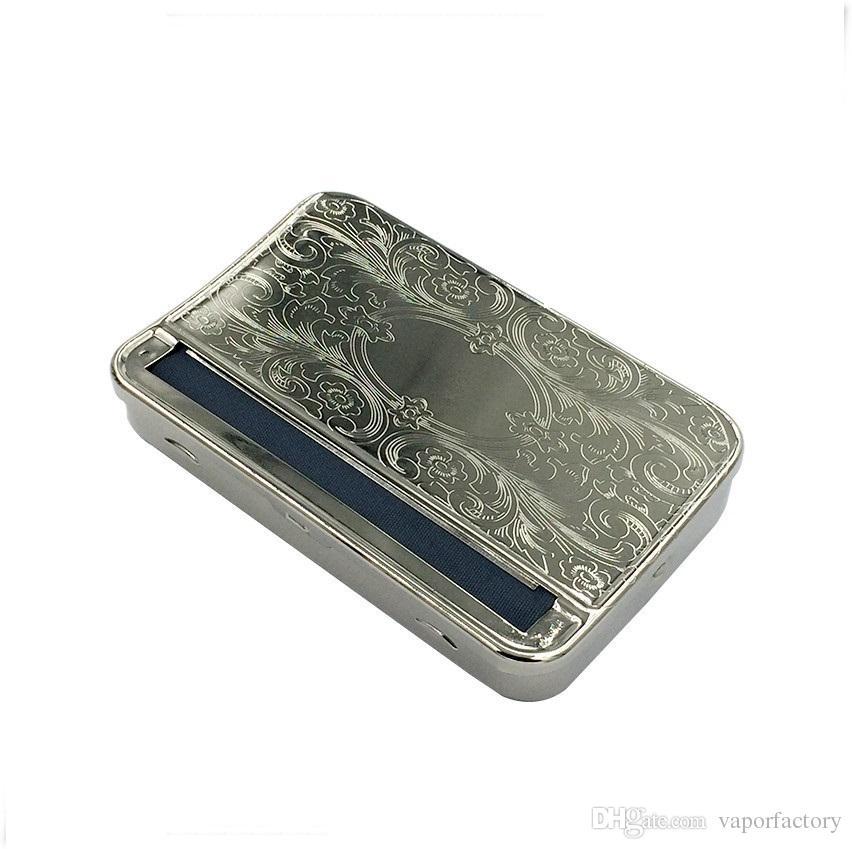 бесплатная доставка 110 мм металл полуавтоматический сигареты Роллинг box машина чайник авто табак ролик олова для 110 мм сигаретные бумаги ручной ролики