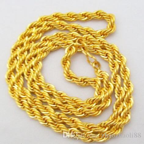 c4947cb937c 2019 22 Inch Yellow Gold Plated Cable French Rope Chain Necklace Men Women  Unisex From Zhaozhaoli88, $16.09 | DHgate.Com