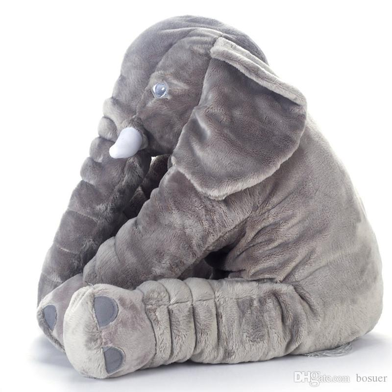 2019 Giant Grey Elephant Plush Toy Pillow For Baby Big Stuffed