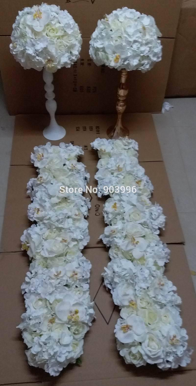 f930a10dc5f59 Wedding Road Lead Flowers Candlestick Table Centerpiece Flower Ball with  Butterfly Flowers Decoratios Diyartificial Flowerswedding Decoration Online  with ...