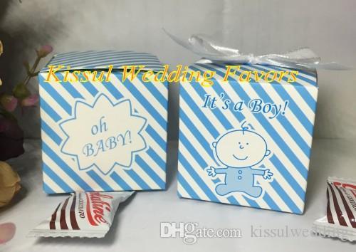 100 Pz / lotto 2016 Più Nuovo Incredibile Baby shower box favore di Oh baby è una ragazza Baby birthday Party Confezione regalo e Baby candy box SPEDIZIONE GRATUITA