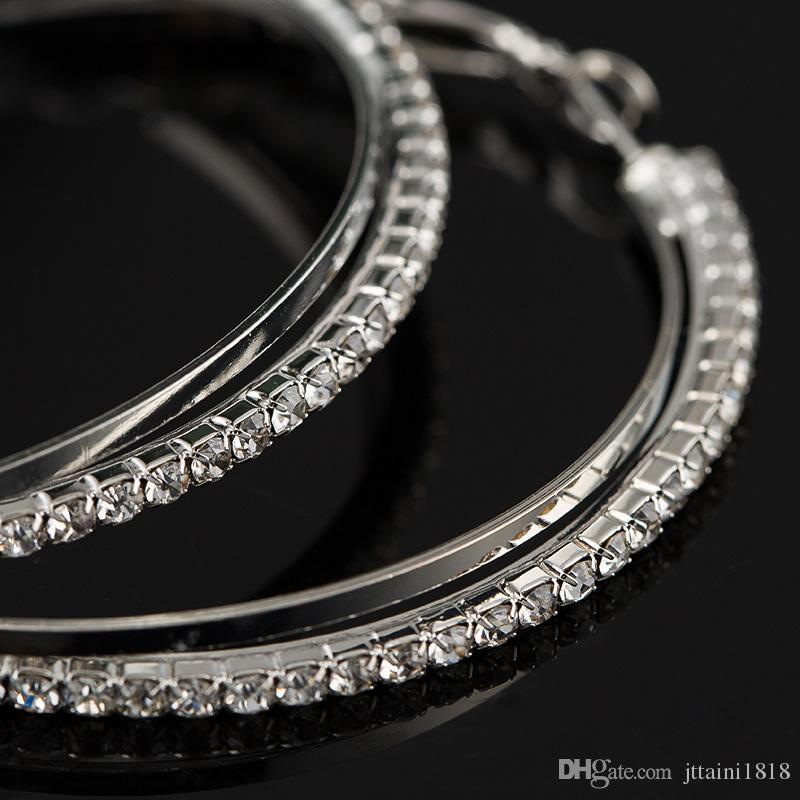 Невеста ювелирные изделия личность супер большие круги Хооп серьги для женщин мода золото цвет ювелирные изделия Bijoux модные серьги заявление
