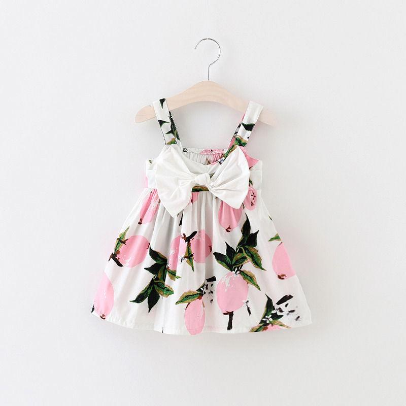 d8aaca9a6 2019 Wholesale 2016 New Baby Dress Infant Girl Dresses Lemon Print ...