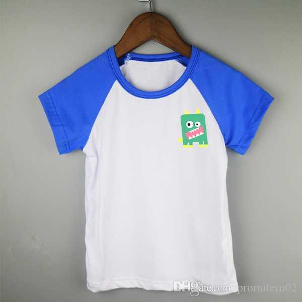2f0492646f13 Großhandel Süßes Monster Kind Königsblau T Shirts Kurzarm T Shirt Ärmel  Oberteile Kleid Neuheit Sommer Kinder Kleidung Von Promitem02,  7.0 Auf  De.Dhgate.