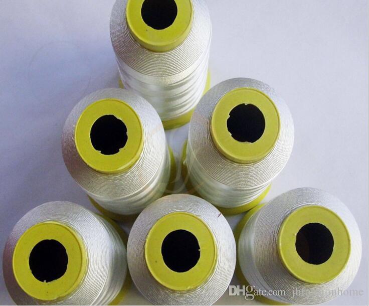 Fibra de vidrio de coser oso hilo alta temperatura 550degree línea resistente al fuego 0,25 / 0,5 mm cables retardantes de llama de soporte personalizadas