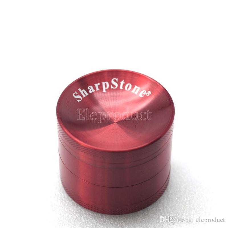 50mm Moedor Côncavo com Logotipo Da Pedra Afiada Metal Grinder 4 Peças Moedor de Tabaco Superfície Côncavo Liga de Zinco vs sharpstone moedores