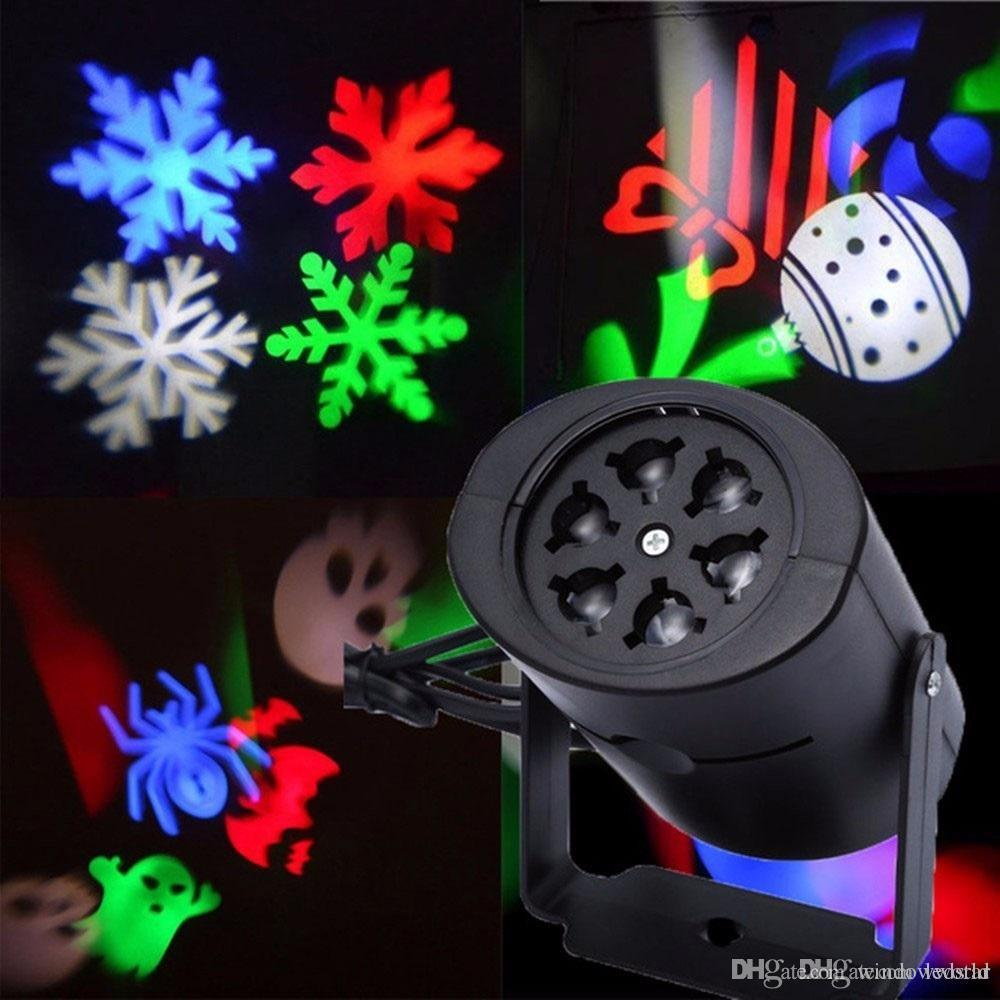 multi color led laser light moving rgbw projecting led lights holiday whit switchable pattern lens christmas halloween party decoration laser christmas
