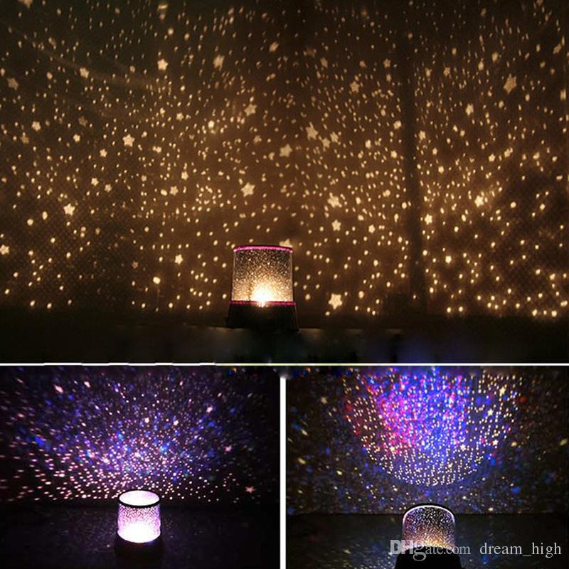 Amazing Colorful of Star Sky Romatic Gift Cosmos Sky Star Master Projector LED Starry Night Light Lamp
