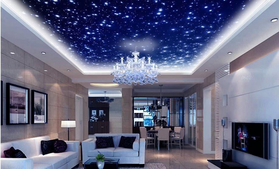Fantasia bonita universo céu zenith teto teto decoração murais 3d teto murais papel de parede