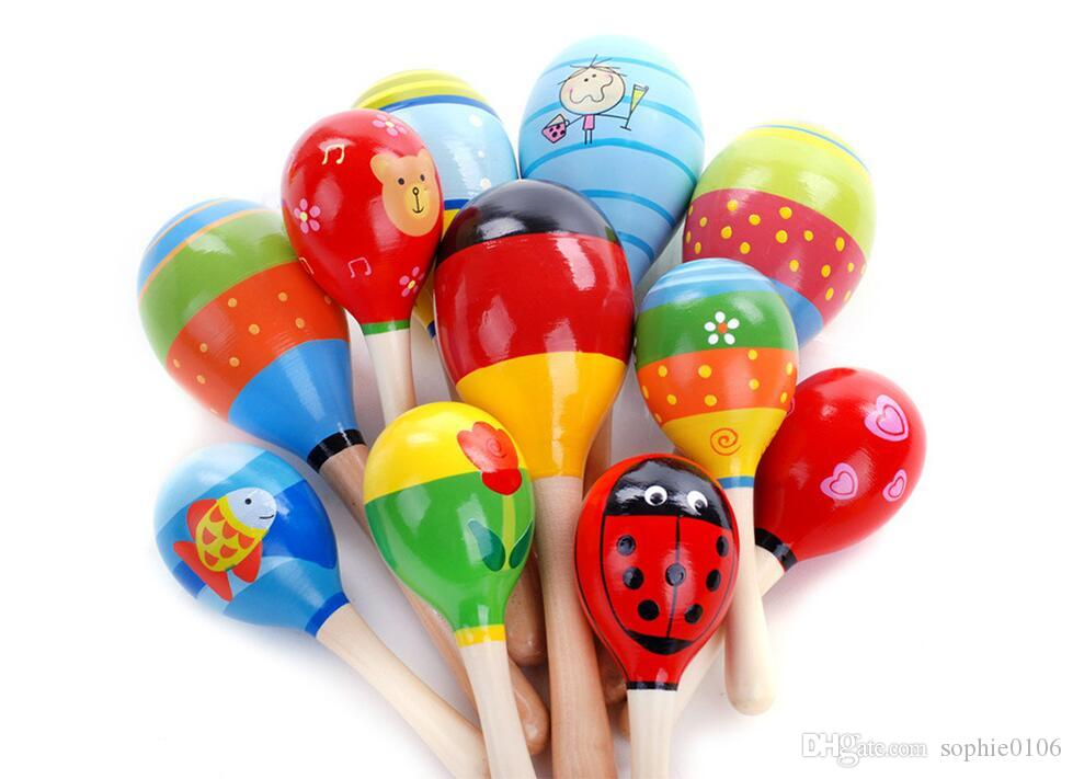 Baby Wooden Toy Rattle Baby cute Rattle toys musical instruments Educational Toys MC 001