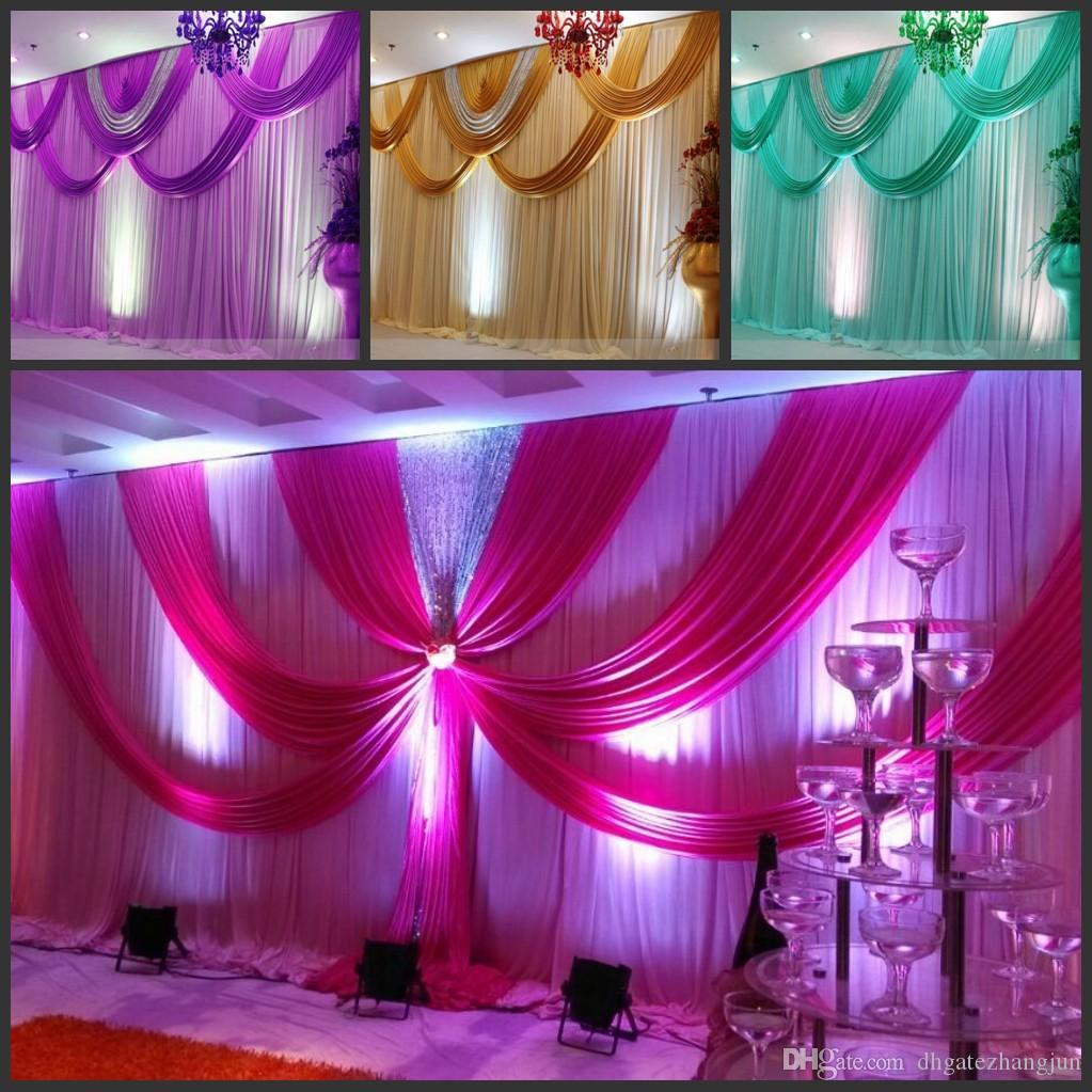 Special Offer 10ftx20ft Sequin Wedding Backdrop Curtain With Swag