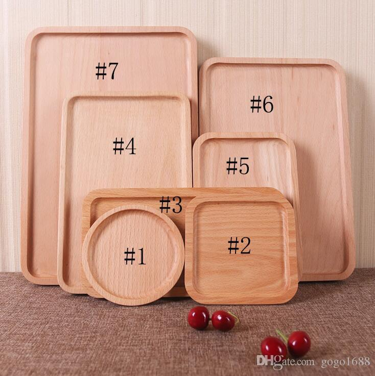 Best And Cheapest Dishes \u0026 Plates Wooden Tray Rectangle Beech Wood Fruit Cake Tea Western Dinner Plate Pizza Real Wood Plate Factory Customization Dhl For ... & Best And Cheapest Dishes \u0026 Plates Wooden Tray Rectangle Beech Wood ...