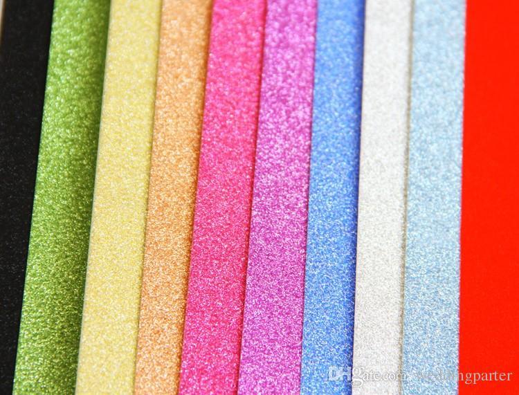 f59694405e New Eco-Friendly Self-adhesive A4 Glitter Bling paper EVA Foam Sheet DIY  Craft Home Wall Decorations 10pcs/lot
